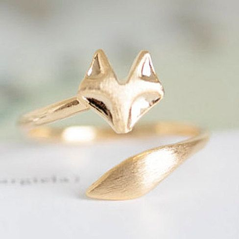 As Seen on the Today Show! The Alchemy Shop Delicate Fox Animal Ring