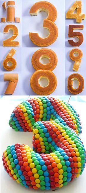 Zahlenkuchen ~ Möchtest du das Alter als deinen Kuchen kennzeichnen? Es ist einfach … Al …   – cake