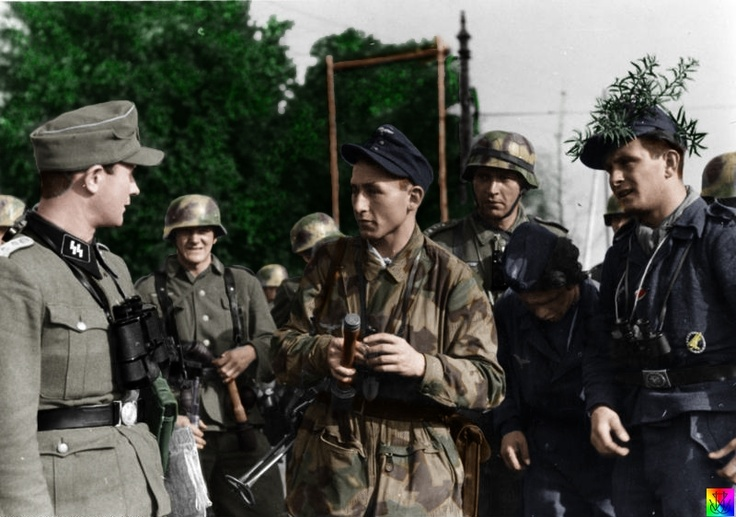 A mix of German soldiers after the Battle of Arnhem.