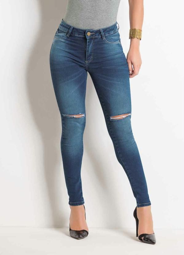 Calça Jeans Sawary Cintura Alta