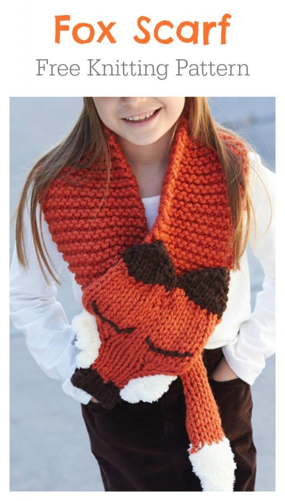 Adjustable Fox Scarf Free Knitting Pattern How To Knit A Fox Scarf