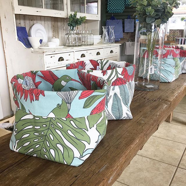 Soft fabrics pots... by @alovesupreme_creative... what would you use one for??!!! Urmmm... a desk tidy, a plant pot, spa...
