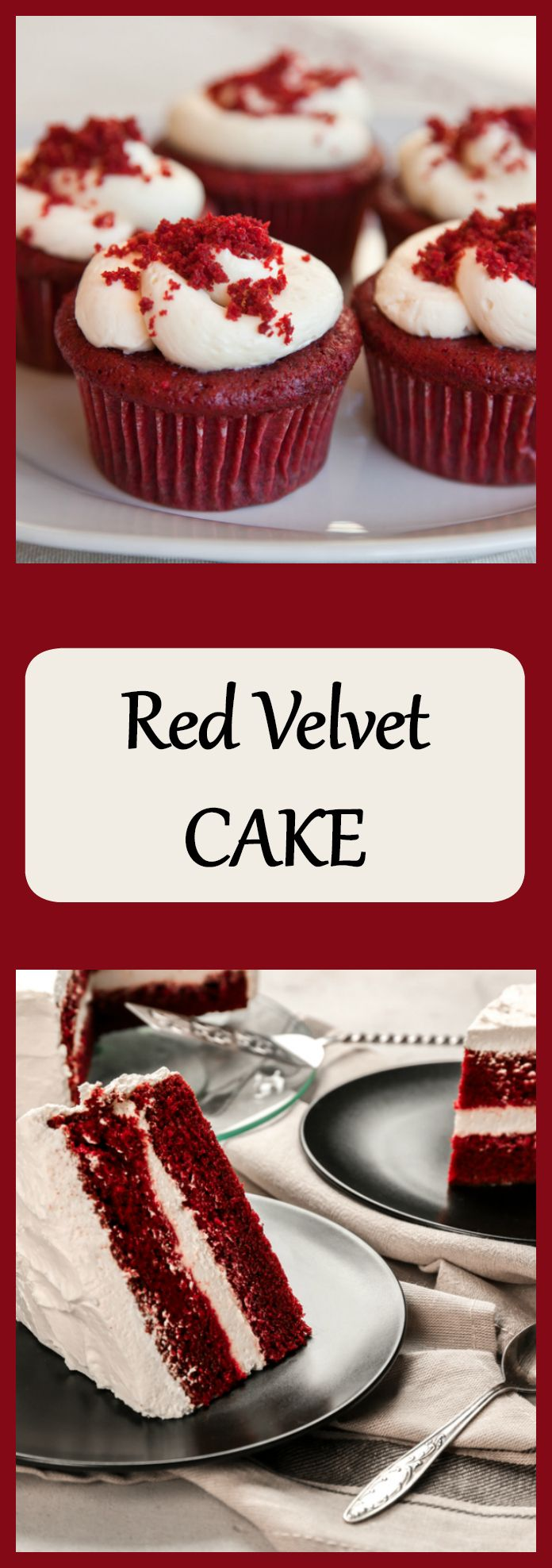 Red Velvet cake recipe with cream cheese icing. This is a classic and delicious dessert.