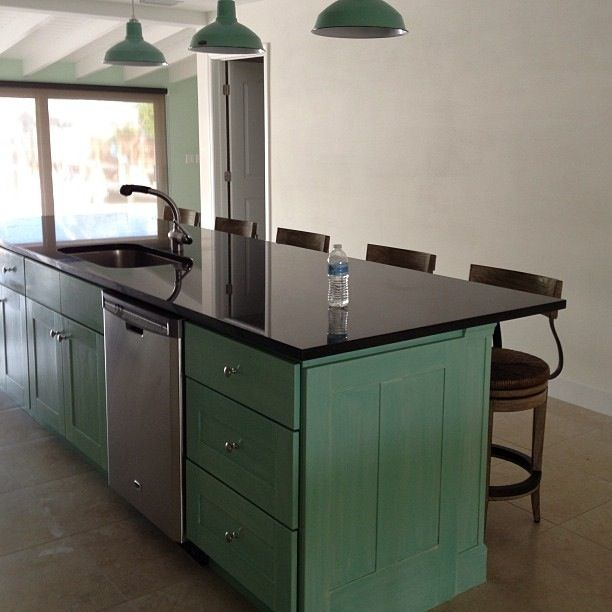 Chalk Paint Kitchen Cabinets Green