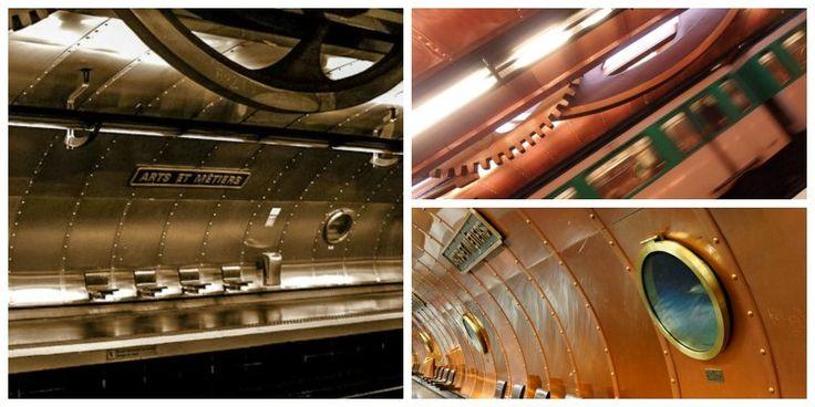 Arts et Métier è una stazione della metro dallo stile cyberpunk #Parigi