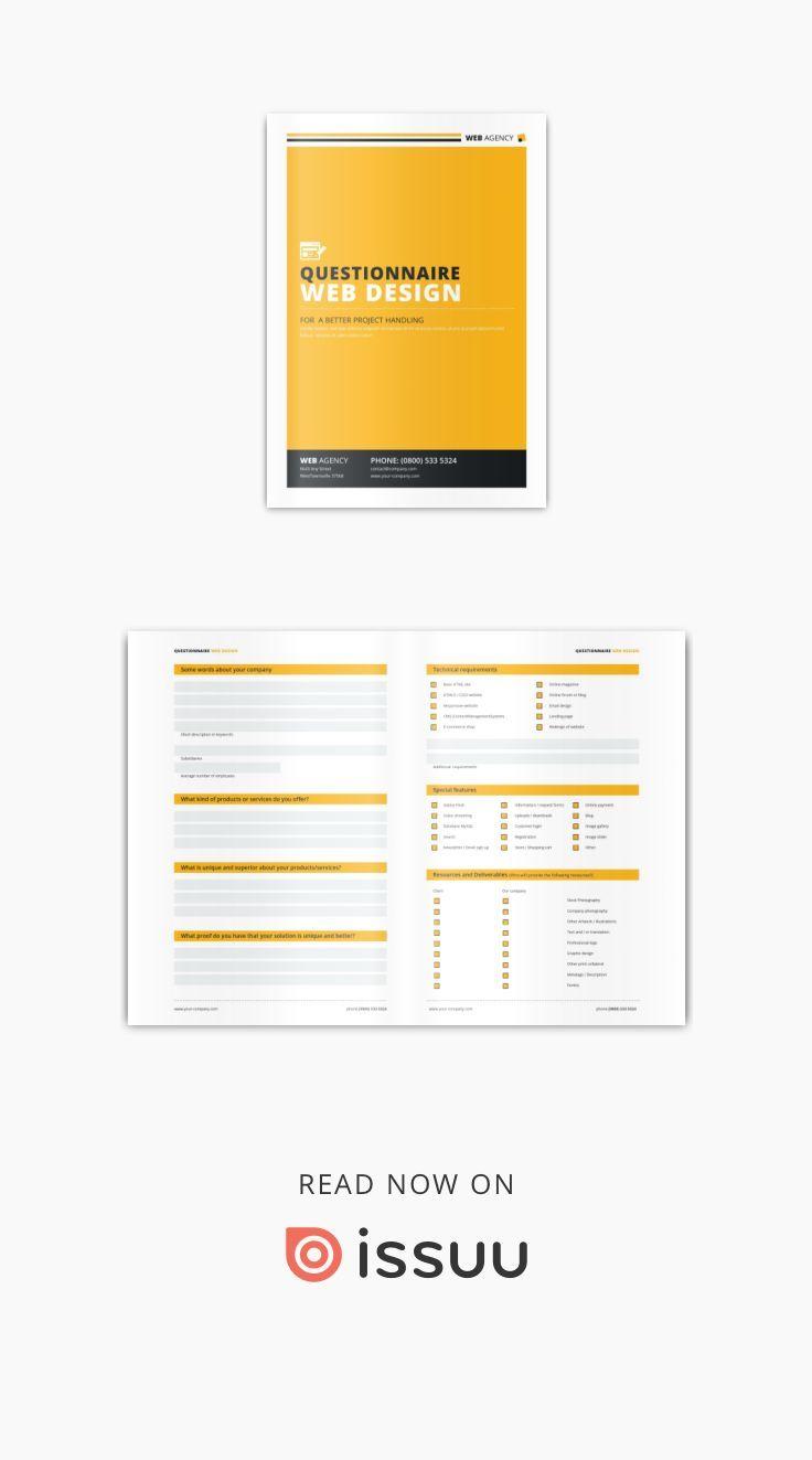 Questionnaire V2 Questionnaire Web Design Questionnaire Design
