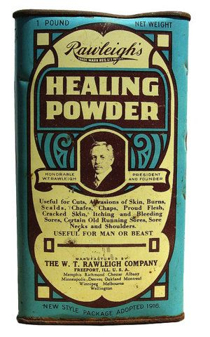 antique tin via FFFFOUND: Graphics Design Packaging, Package Design, Vintage Tins, Vintage Packaging, Packaging Design, Healing Powder, Vintage Design, Old Tins, Design Blog