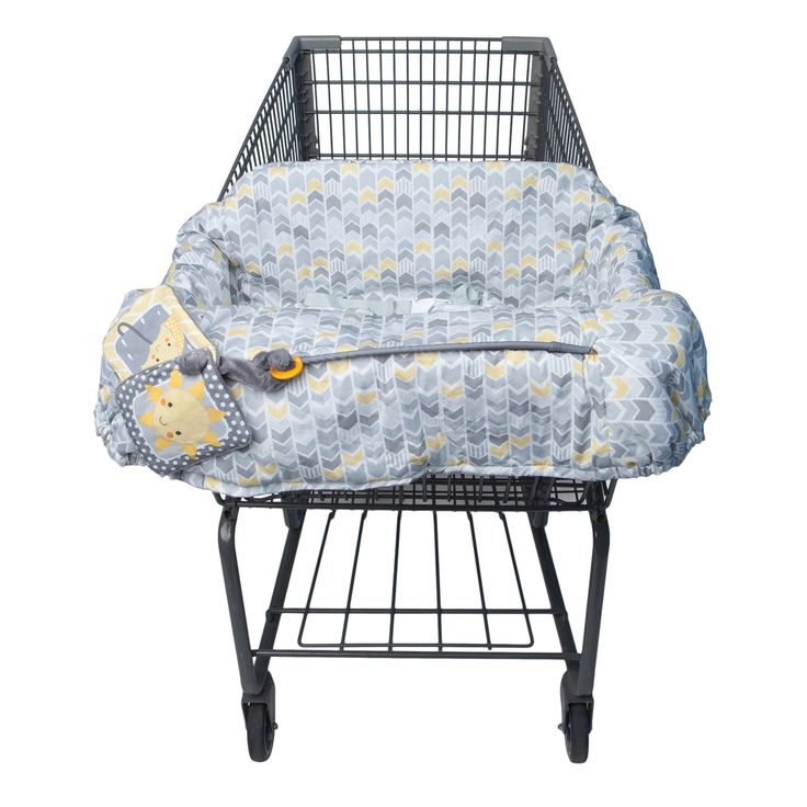 Boppy Baby Chevron Pattern Shopping Cart Cover - Gray