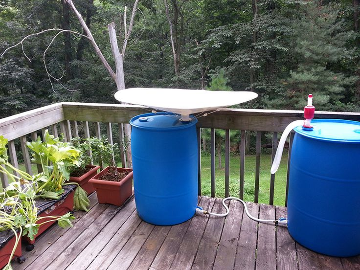 Superior RainSaucers   To Collect Rainwater On A Balcony For Watering Plants.