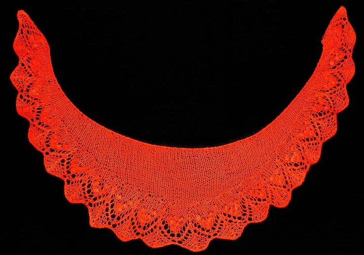 Chalina tejida en dos agujas con estambre Cisne Hobby color anaranjado oscuro