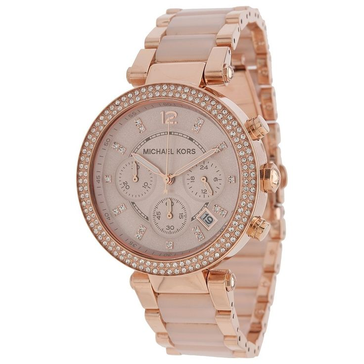 Michael Kors Women's MK5896 'Parker' Rose Goldtone Chronograph Watch - Overstock™ Shopping - Big Discounts on Michael Kors Michael Kors Women's Watches