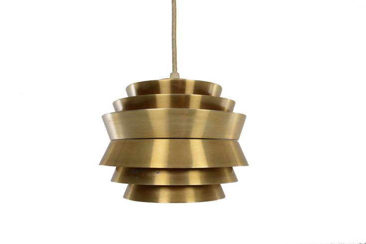 Danish modern mini UFO brass pendant lamp. In excellent original condition with typical wear for its vintage. Measures: 8″ diameter x 7″ tall ___________________________________________________________________________ ABOUT: Mid Century Mobler specializes in Danish and