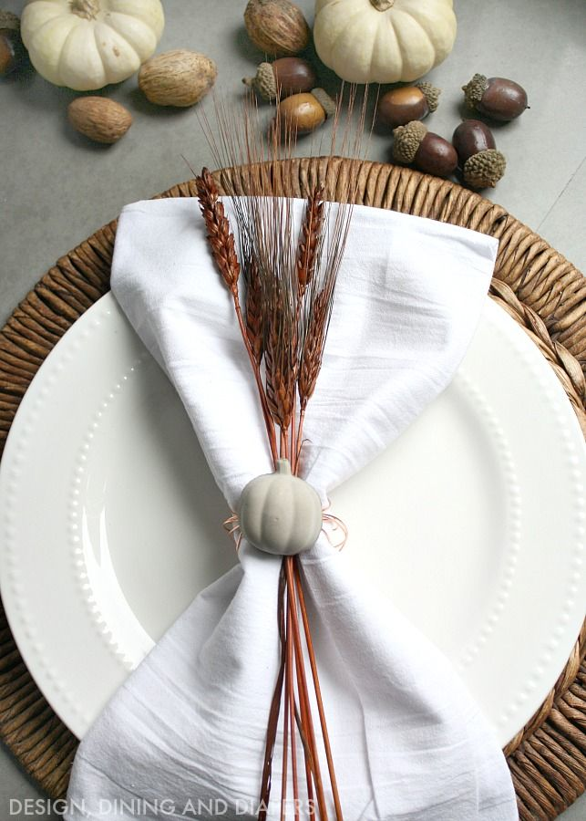 Tutorial for Concrete and Copper Pumpkin Napkin