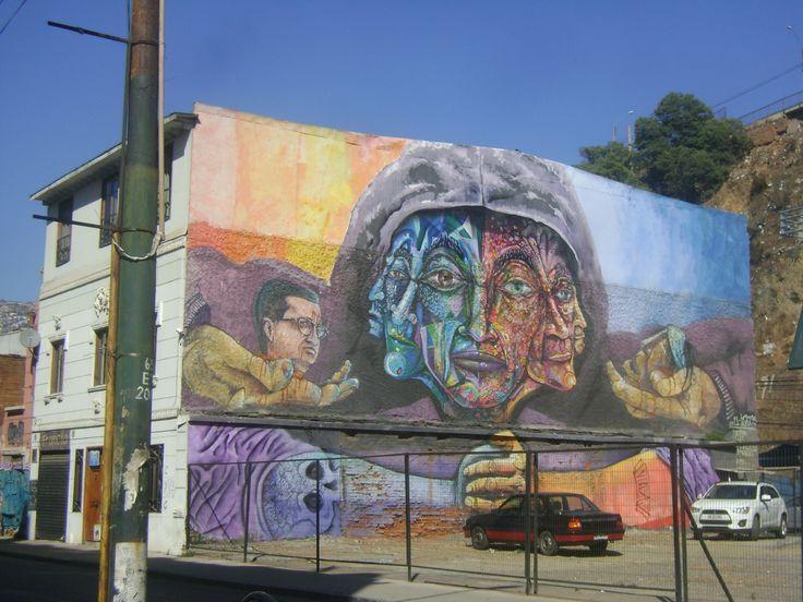 Mural sector de la aduana Valparaiso