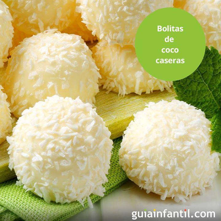 El coco, por su alto contenido en proteínas y bajo en hidratos de carbono, es un alimento diurético y un gran aliado del aparato digestivo. Esas bolitas de coco van a dejar a los niños, ¡sin habla! http://www.guiainfantil.com/recetas/postres-y-dulces-para-ninos/frutas/bolitas-de-coco-para-el-postre-y-cumpleanos-de-los-ninos/