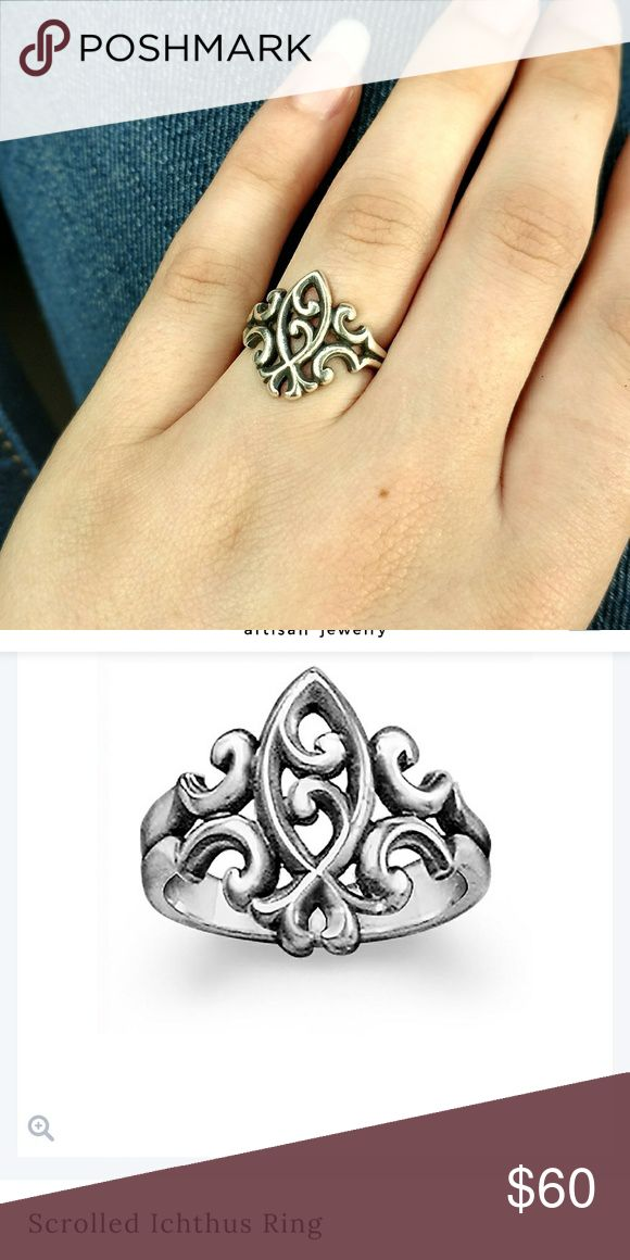 James Avery Ring Scrolled Ichthus Ring James Avery Jewelry Rings