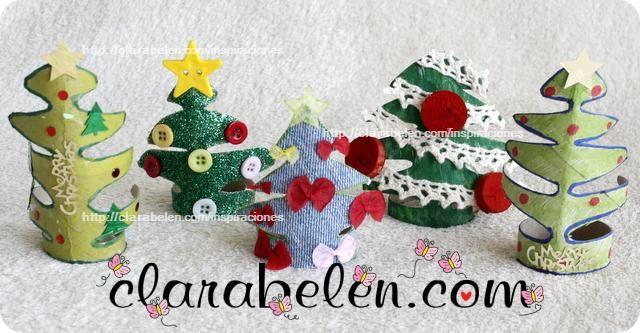 Mejores 27 Imagenes De Adornos De Navidad Reciclados En Pinterest - Adornos-de-navidad-con-rollo-de-papel-higienico
