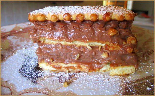 nutella summer cake/γλυκό ψυγείου με noutella