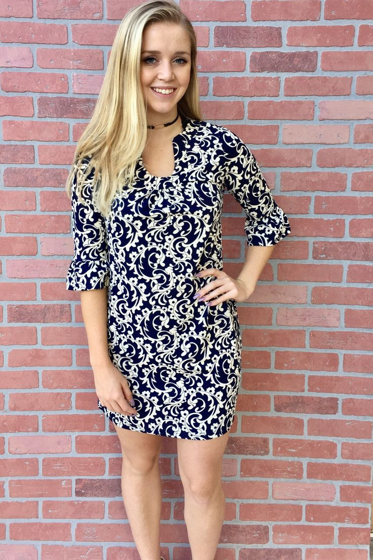 Starlet Dress- Navy from Chocolate Shoe Boutique