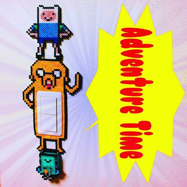 Adventure Time light switch frame perler beads by cat__tail