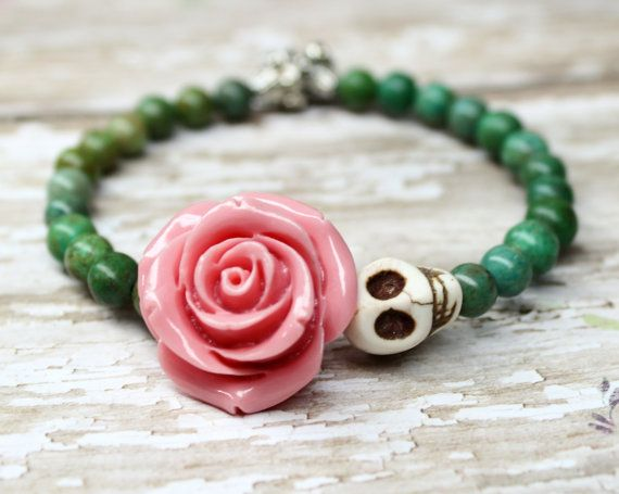 Hey, I found this really awesome Etsy listing at https://www.etsy.com/listing/251024335/sugar-skull-bracelet-day-of-the-dead