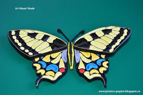Hello dear friends, Today was a sunny, warm day, a real spring day. So, I decided to share with you my quilled version of Papilio Mac...