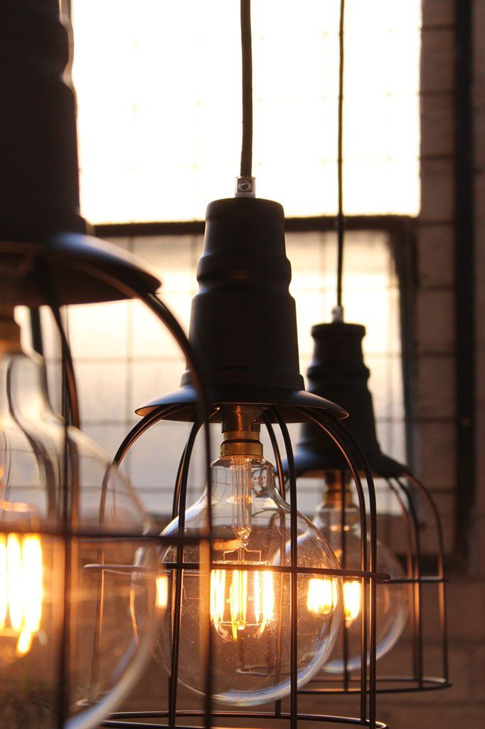 lighting choices. Garage Cage Pendant Lighting Choices