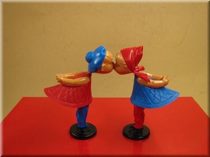 Altes Spielzeug - Magneto Küssendes Paar Romeo und Julia www.eichwaelder.de
