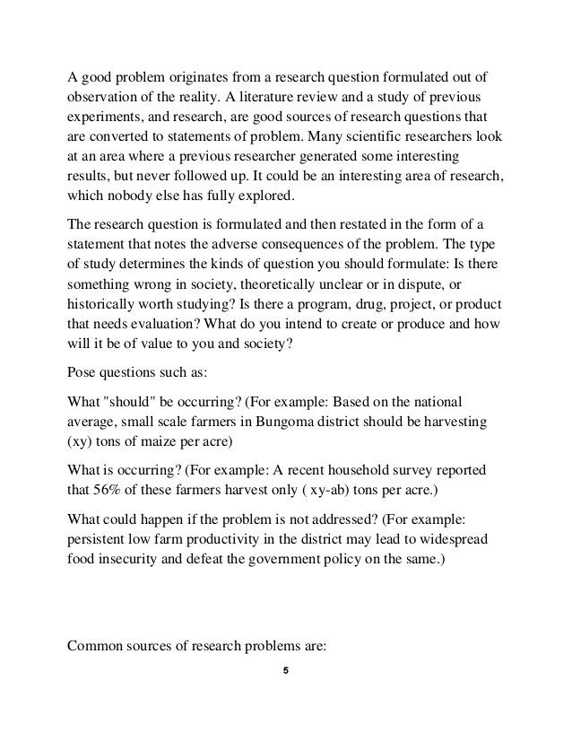 How To Write A Statement Problem Social Science Research Writing A Thesis Statement Statement