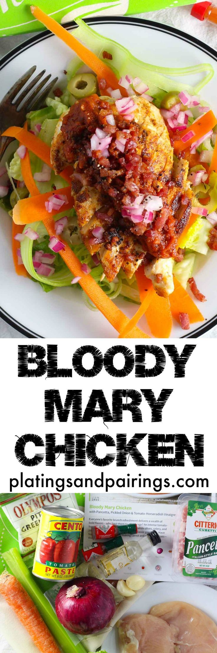 Bloody Mary Chicken + A Hello Fresh Review platingsandpairings.com