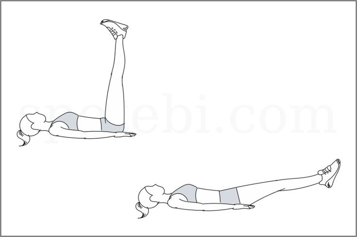 Straight leg raise exercise guide with video instructions, benefits, sets and reps. Learn proper form, calculate the number of calories burned and choose a workout. http://www.spotebi.com/exercise-guide/straight-leg-raise/
