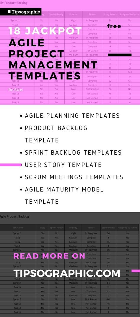 18 Jackpot Agile Project Management Templates For Excel Free