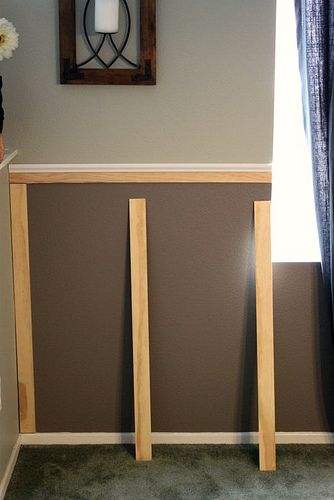 board & batten style molding, under existing chair rail