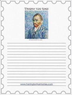 How to paint like van Gogh for kids | Harrington Harmonies