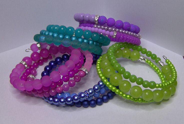 Colorful spiral bracelets