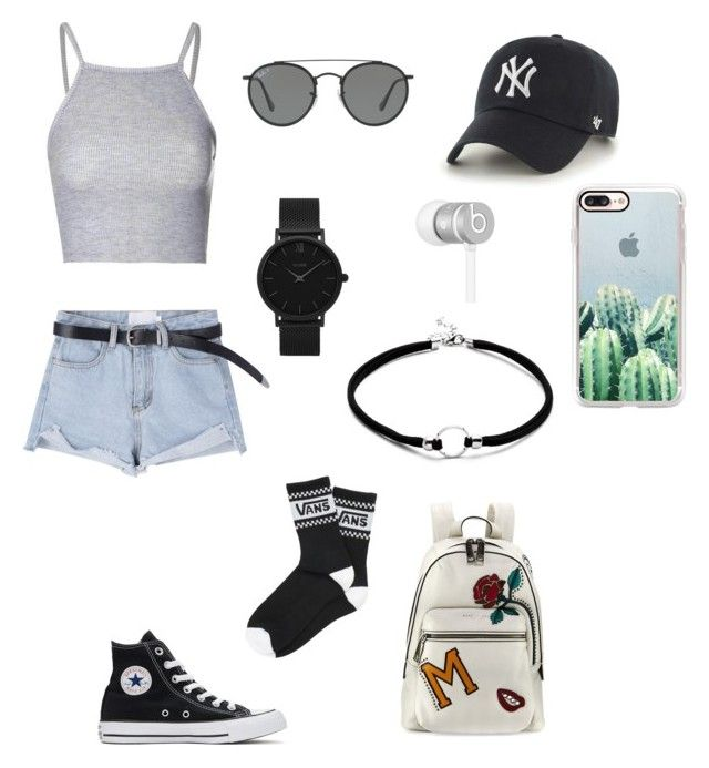 """polyvore"" by jesy-smith on Polyvore featuring mode, Converse, Vans, Marc Jacobs, '47 Brand, Ray-Ban, CLUSE, Casetify et Beats by Dr. Dre"