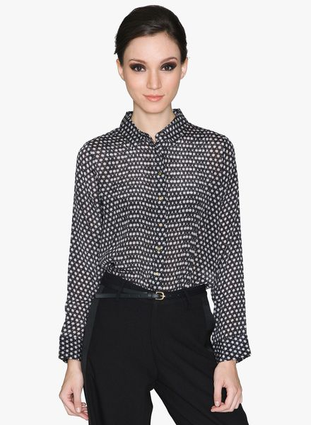 Buy Label Ritu Kumar Black Printed Shirt for Women Online India, Best Prices, Reviews   LA515WA30GVDINDFAS