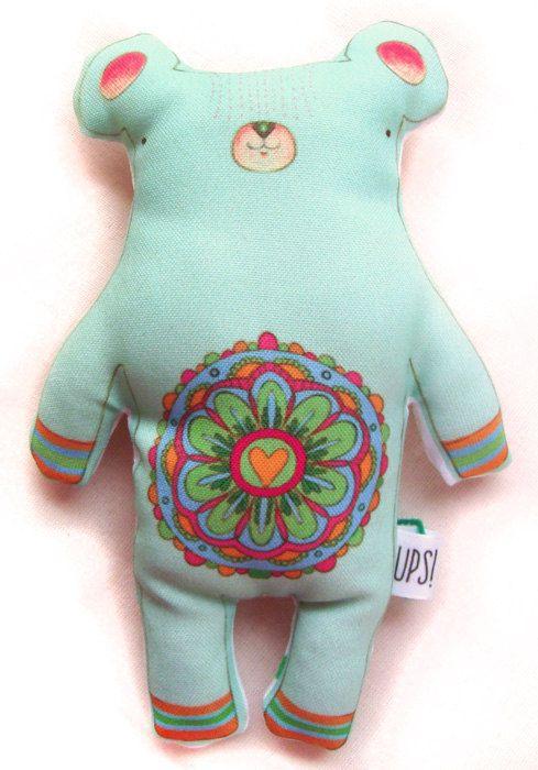 Muñeco Oso Mandala -  Mandala bear doll de JessicaIlustradora en Etsy