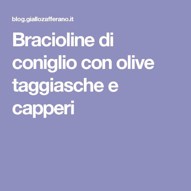Bracioline di coniglio con olive taggiasche e capperi