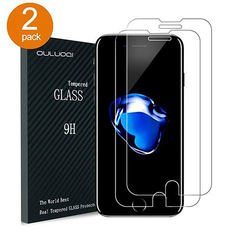 10 OULUOQI 2 Pack IPhone 7 Plus Screen Protector
