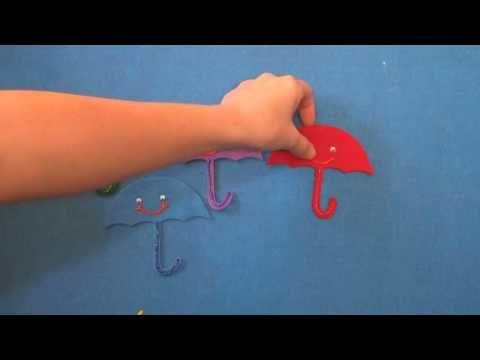 Preschool Songs Four Little Umbrella's Flannel Board Story