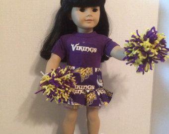 American Girl Doll NFL Vikings cheerleader outfit by janscraftroom