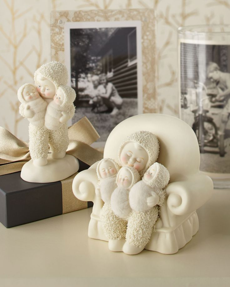 New Snowbabies Double Happiness and Triple Treat. The love of a family is life's greatest blessing. Our new family collection beautifully captures the memories we make along the way. Ready to shop? http://shop.department56.com/c/snowbabies_classic-collection_family?current_per_page=24&current_sortby=recommended&per_pager=24&sort_selection=recommended