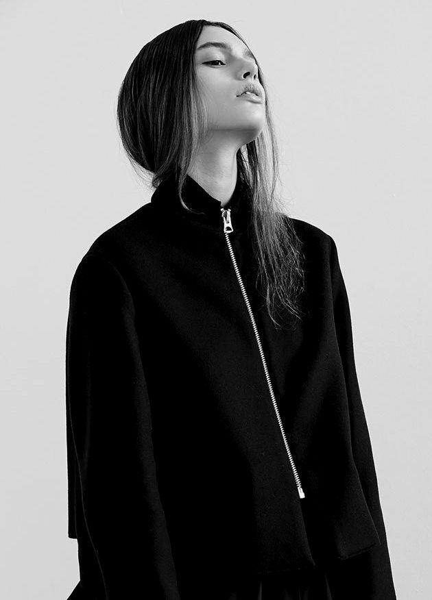 Sleek Black Jacket - bold minimal style, chic minimalist fashion
