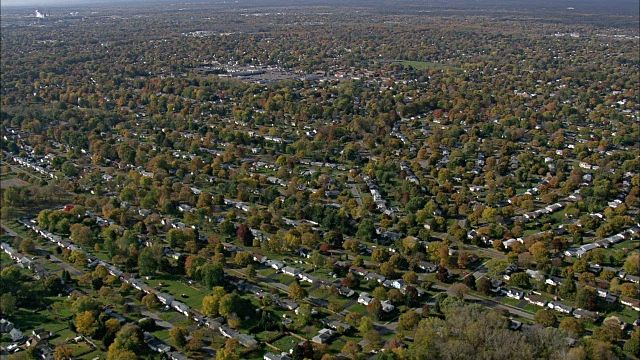Rochester Suburbs Aerial View New York Monroe County United States ...