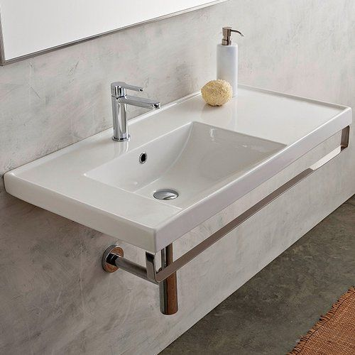 "Found it at AllModern - ML 36"" Wall Mounted Bathroom Sink with Overflow"