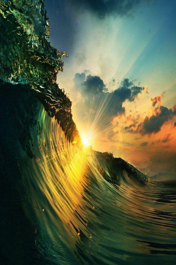 Couche de soleil sur la mer