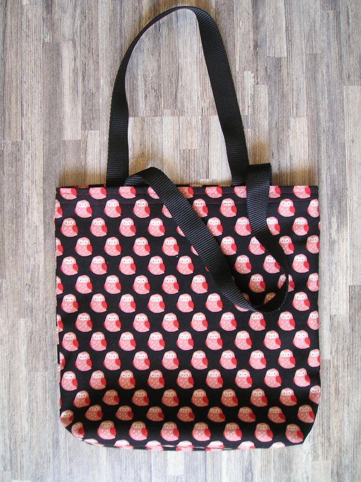 BATTUK bolso de loneta diseño buhos  http://battuk.blogspot.com.es/