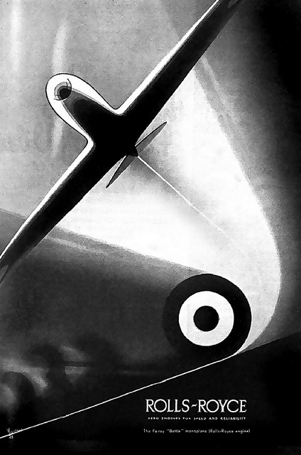 1937 ... ROLLS-ROYCE engines -- why Spitfires sound so cool.