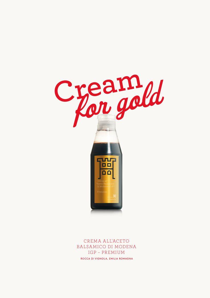 Cream for gold!  Crema all'Aceto Balsamico di Modena IGP - Premium Rocca di Vignola, Italien Creme aus Balsamessig, gold